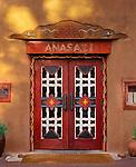 Southwestern door at Santa Fe, New Mexico