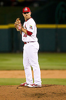 Matthew Frevert (26) of the Springfield Cardinals on the mound during a game against the Tulsa Drillers on April 29, 2011 at Hammons Field in Springfield, Missouri.  Photo By David Welker/Four Seam Images.