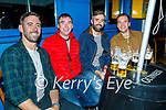 Tom Forde from Scartaglin getting ready to head to Houston Texas next week enjoying the evening in Killarney on Saturday, l to r: Ger O'Connor, Conor Cremin, Tom Forde and Denis Cremin (All Scartaglin)