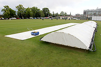 Covers on the pitch during Brentwood CC vs Wanstead and Snaresbrook CC (batting), Shepherd Neame Essex League Cricket at The Old County Ground on 11th May 2019