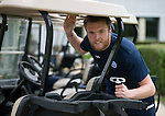 St Johnstone Pre-Season Training in Northern Ireland.. 08.07.16<br />Keeper Zander Clark pictured relaxing on the putting green at the team hotel near Belfast<br />Picture by Graeme Hart.<br />Copyright Perthshire Picture Agency<br />Tel: 01738 623350  Mobile: 07990 594431