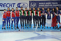 SPEEDSKATING: DORDRECHT: 2016, ISU World Short Track Speedskating Championships, Selma Poutsma (FRA) (links), ©photo Martin de Jong