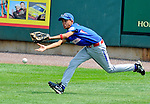 21 August 10: Dominican Republic CF Julio Garcia extends for a fly ball and misses in the Cal Ripken Babe Ruth World Series 12U Majors in Aberdeen, Maryland
