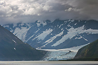 Surprise glacier, Chugach National Forest, Chugach mountains, Prince William Sound, Alaska.