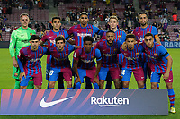 20th September 2021; Nou Camp, Barcelona, Spain; La Liga football league;  FC Barcelona versus Granada;   FC Barcelona line up