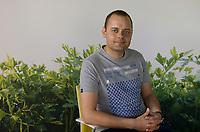POLAND, Rusiec, herb and spices cultivation and trade / POLEN, Rusiec, Firma Bromex, Vertragsanbau und Handel von Kräutern und Gewuerzen, Krystian Konrad, sales manager