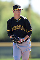 Pittsburgh Pirates pitcher Chad Kuhl (76) during a minor league spring training intrasquad game on March 30, 2014 at Pirate City in Bradenton, Florida.  (Mike Janes/Four Seam Images)