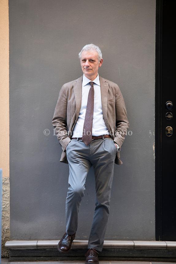 Alessandro Robecchi, è un giornalista, autore televisivo e scrittore italiano. Milano, 24 aprile 2021. Photo by Leonardo Cendamo/Getty Images