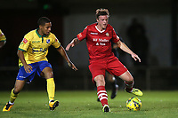 George Purcell of Hornchurch and Tommy Tejan-Sie of Wingate & Finchley during Hornchurch vs Wingate & Finchley, Pitching In Isthmian League Premier Division Football at Hornchurch Stadium on 6th October 2020