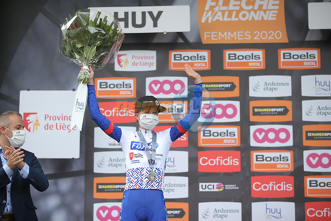 Cecilie Uttrup Ludwig (DEN) FDJ Nouvelle-Aquitaine Futuroscope finishes in 2nd place at the end of La Fleche Wallonne Femmes 2020, running 124km from Huy to Mur de Huy, Belgium. 30th September 2020.<br /> Picture: ASO/Thomas Maheux | Cyclefile<br /> All photos usage must carry mandatory copyright credit (© Cyclefile | ASO/Thomas Maheux)