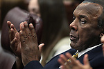 Nevada Assemblyman Harvey Munford, D-Las Vegas, participates in the opening day of the 77th Legislative Session in Carson City, Nev. on Monday, Feb. 4, 2013. <br />