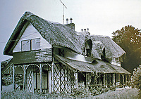 Swiss Cottage, designed by John Nash, 1810-1814. Nash was a pioneer in the Picturesque style in architecture. this was one of a series of cottage designs in Wales.