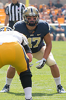 Pitt linebacker Matt Galambos (47). Iowa Hawkeyes defeated the Pitt Panthers 24-20 at Heinz Field, Pittsburgh Pennsylvania on September 20, 2014.