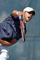 SAN ANTONIO, TX - FEBRUARY 10, 2016: The Texas A&M University at Corpus Christi Islanders defeat the University of Texas at San Antonio Roadrunners 4-1 at the UTSA Tennis Center. (Photo by Jeff Huehn)