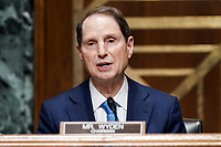 Senate Finance Committee Chairman Ron Wyden (D-Ore.) during a nomination hearing for Deputy Treasury Secretary nominee Adewale Adeyemo on Tuesday, February 23, 2021 at Capitol Hill in Washington, D.C.<br /> Credit: Greg Nash / Pool via CNP /MediaPunch