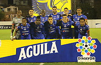 ENVIGADO- COLOMBIA, 19-07-2019.Formación del Deportivo Pasto ante el Envigado durante partido por la fecha 2 de la Liga Águila II 2019 jugado en el estadio Polideportivo Sur de la ciudad de Medellín. /Team of Deportivo Pasto agaisnt of Envigado  during the match for the date 2 of the Liga Aguila II 2019 played at Polideportivo Sur stadium in Medellin  city. Photo: VizzorImage / Envigado FC
