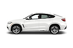 Car Driver side profile view of a 2018 BMW X6 sDrive35i 5 Door SUV Side View