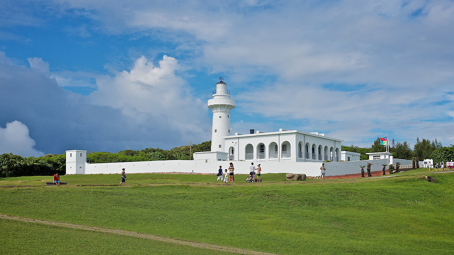 The South Cape (Cape Eluanbi) Lighthouse And Fortified Complex. Built By The Imperial Maritime Customs Service. Kenting, Taiwan.