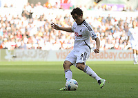 FAO SPORTS PICTURE DESK<br /> Pictured: Neil Taylor of Swansea. Saturday, 24 March 2012<br /> Re: Premier League football, Swansea City FC v Everton at the Liberty Stadium, south Wales.