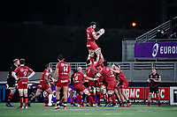 16th October 2020, Stade Maurice David, Aix-en-Provence, France;  Challenge Cup Rugby Final Bristol Bears versus RC Toulon;  Charles Ollivon (RC Toulon) takes the line out