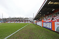 General view of the ground ahead of kick-off during Stevenage vs Barnet, Sky Bet League 2 Football at the Lamex Stadium, Stevenage, England on 23/01/2016
