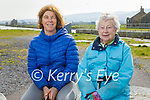 Sitting down and relaxing in Lohercannon on Thursday, l to r: Cathy and Eileen Quinn.