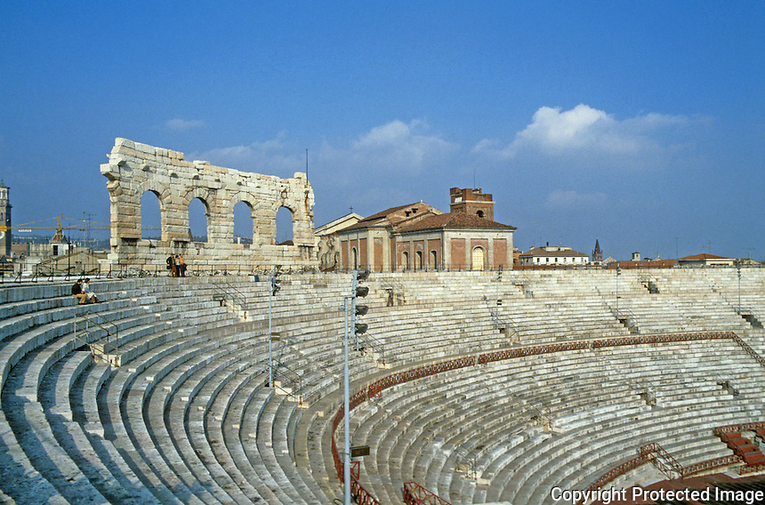 Italy: Verona--Roman Arena. 500' x 420 ', 100 ft. high.