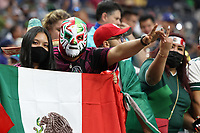 LAS VEGAS, NV - AUGUST 1: Mexico fans before a game between Mexico and USMNT at Allegiant Stadium on August 1, 2021 in Las Vegas, Nevada.