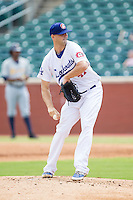Chattanooga Lookouts starting pitcher Matt Shelton (47) in action against the Montgomery Biscuits at AT&T Field on July 23, 2014 in Chattanooga, Tennessee.  The Lookouts defeated the Biscuits 6-5. (Brian Westerholt/Four Seam Images)