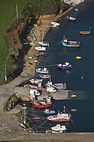Europe/France/Bretagne/29/Finistère/Env de Landéda: Vue aérienne port du Vill sur l'Aber Benoit