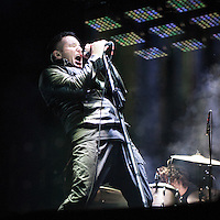 Nine Inch Nails performs at Voodoo Fest 2013 in New Orleans, LA.
