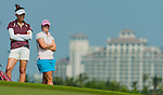 Players in action during the second day of the World Ladies Championship at the Mission Hills Haikou Sandbelt Trails course on 8 March 2013 in Hainan island, China . Photo by Victor Fraile / The Power of Sport Images