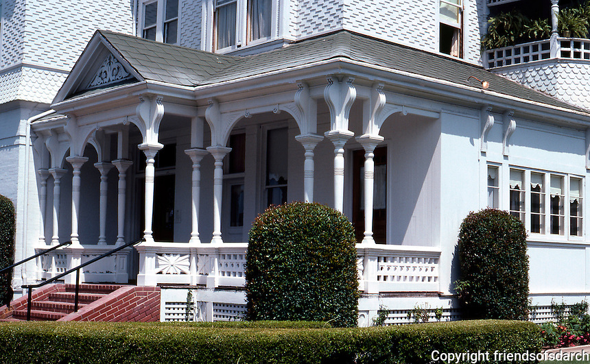 San Diego: Peter Britt House, 1889. Architect unknown. Queen Anne Victorian. Photo '80.