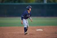 AZL Padres 2 Ethan Skender (20) leads off second base during an Arizona League game against the AZL White Sox on June 29, 2019 at Camelback Ranch in Glendale, Arizona. The AZL Padres 2 defeated the AZL White Sox 7-3. (Zachary Lucy/Four Seam Images)