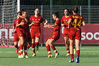 4th September 2021; Agostino di Bartolomei Stadium, Rome, Italy; Serie A womens championship football, AS Roma versus Napoli ; Annamaria Serturini of Roma celebrates after scoring her goal