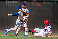 20 May 2018: Los Angeles Dodgers infielder Enrique Hernandez in action against the Washington Nationals at Nationals Park in Washington, DC. The Dodgers defeated the Nationals 7-2, sweeping their 3-game series. Mandatory Credit: Ed Wolfstein Photo *** RAW (NEF) Image File Available ***