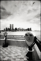 View of lower Manhattan and World Trade Center from Liberty State Park<br />