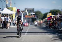 Egan Bernal (COL/Ineos) rolling over the finish line<br /> <br /> Stage 13 (ITT): Pau to Pau(27km)<br /> 106th Tour de France 2019 (2.UWT)<br /> <br /> ©kramon