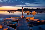 Sunset at Pamet Harbor, Truro, Cape Cod, MA, USA