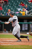 Jackson Generals catcher Steve Baron (8) at bat during a game against the Montgomery Biscuits on April 29, 2015 at Riverwalk Stadium in Montgomery, Alabama.  Jackson defeated Montgomery 4-3.  (Mike Janes/Four Seam Images)