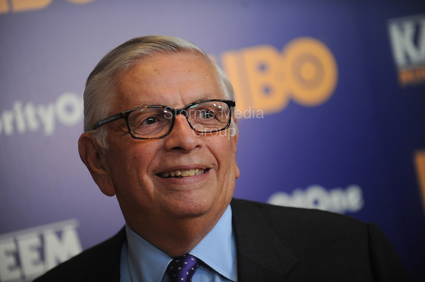 NEW YORK, NY - OCTOBER 26: David Stern attends the 'Kareem: Minority Of One' New York premiere at Time Warner Center on October 26, 2015 in New York City. <br /> <br /> People:  David Stern