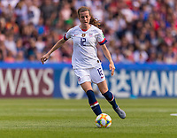 PARIS,  - JUNE 16: Tierna Davidson #12 dribbles during a game between Chile and USWNT at Parc des Princes on June 16, 2019 in Paris, France.