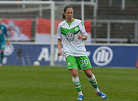 20151213 - KOELN , GERMANY : Wolfsburg 's Elise Bussaglia pictured during the female soccer match between 1.FC Koln and 1. VFL Wolfsburg , on the 11th day of the German Bundesliga season 2015-2016 in sudstadion in Koln. Sunday 13 December 2015 . PHOTO DAVID CATRY