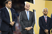 Santa Clara, CA - Wednesday July 26, 2017: Gianni Infantino and Sunil Gulatil during the 2017 Gold Cup Final Championship match between the men's national teams of the United States (USA) and Jamaica (JAM) at Levi's Stadium.