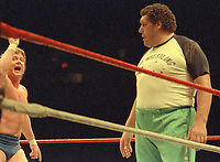 Roddy Piper Andre The Giant 1996<br /> Photo By John Barrett/PHOTOlink