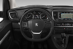 Car pictures of steering wheel view of a 2018 Peugeot Traveller Business 4 Door Mini Van