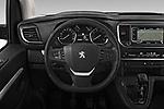 Car pictures of steering wheel view of a 2018 Peugeot Traveller Business 4 Door Mini Van