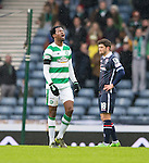 Efe Ambrose walks off after his red card