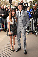 Georgia May Foote and Giovanni Pernice<br /> arriving for the TRIC Awards 2016 at the Grosvenor House Hotel, Park Lane, London<br /> <br /> <br /> ©Ash Knotek  D3095 08/03/2016