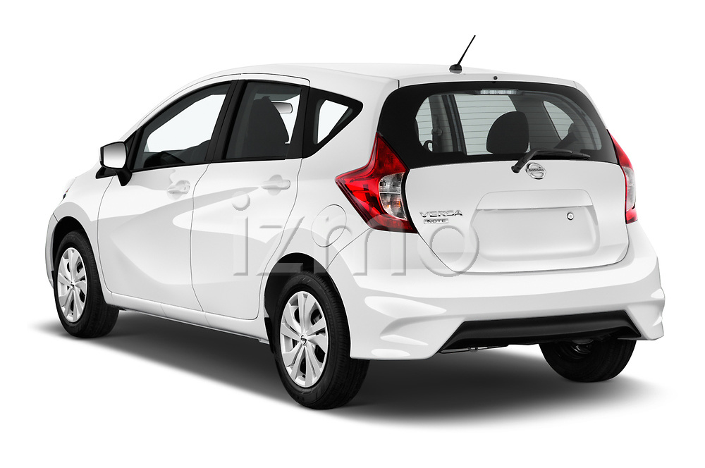 Car pictures of rear three quarter view of 2017 Nissan Versa-Note S-Plus 5 Door Hatchback Angular Rear